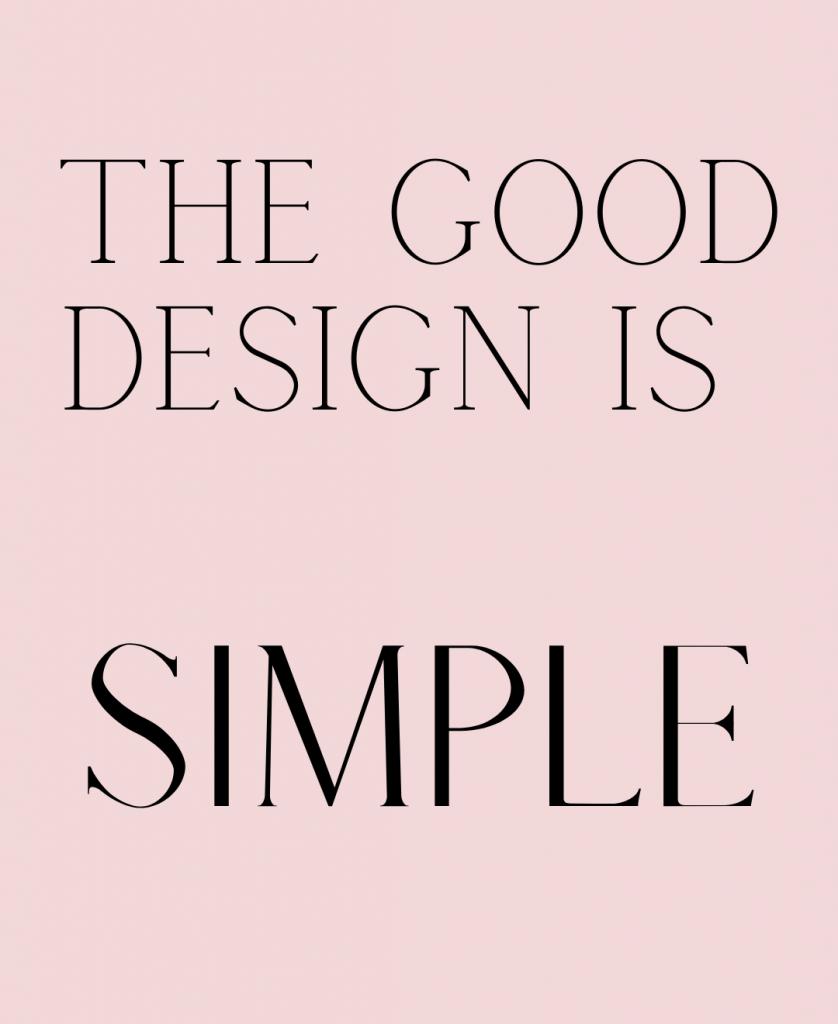the good design is simple luciana mota